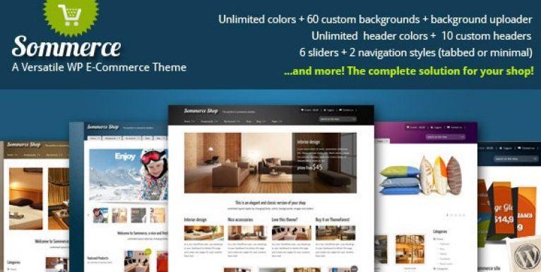 Sommerce Shop – A Versatile E-commerce Theme - Gpl Pulse
