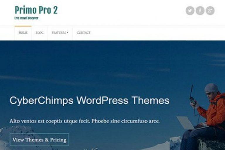 CyberChimps Primo Pro 2 WordPress Theme - Gpl Pulse