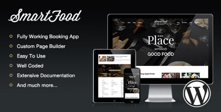 SmartFood – Restaurant Cafe Bistro WordPress Theme SmartFood – Restaurant Cafe Bistro WordPress Theme - Gpl Pulse