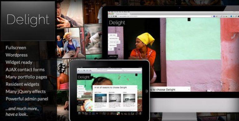 Delight Fullscreen WordPress Portfolio Theme - Gpl Pulse