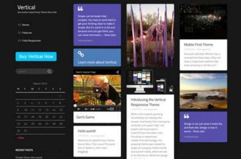 CyberChimps Vertical WordPress Theme - Gpl Pulse