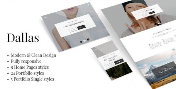 Dallas – Minimal Portfolio & Business Theme - Gpl Pulse