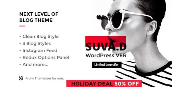 SUVAD – Personal Blog WP Theme - Gpl Download