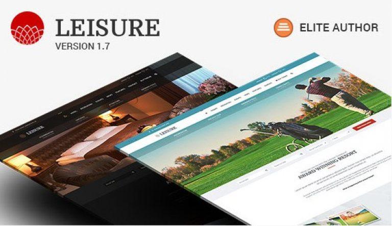 Hotel WordPress Theme – Hotel Leisure - Gpl Pulse
