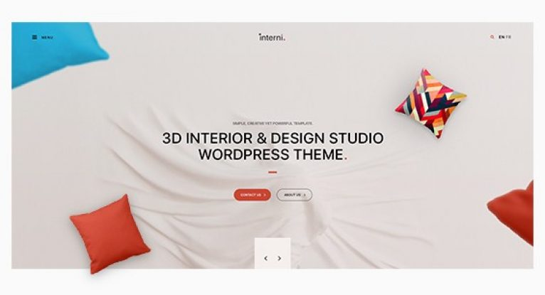 Interni – 3D Interior & Design Studio WordPress Theme - Gpl Pulse
