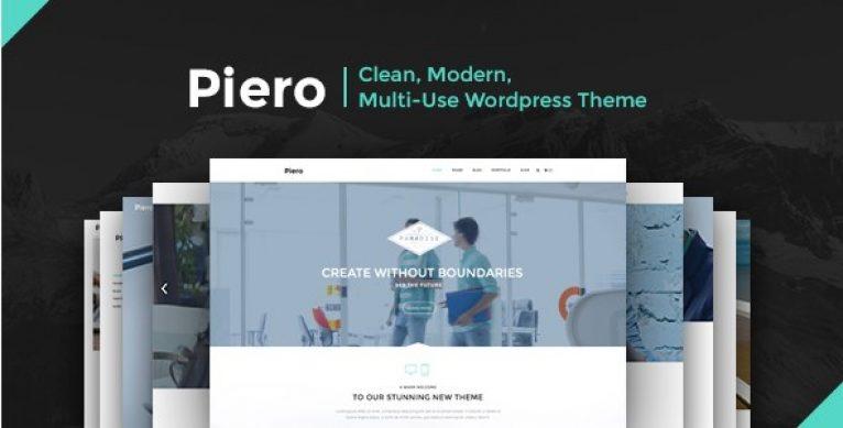PIERO – Clean Modern Multi-Use WordPress Theme - Gpl Pulse