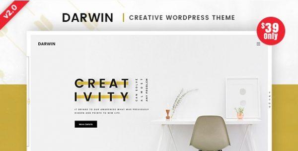 Darwin – Creative WordPress Theme - Gpl Pulse