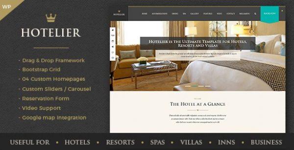 Hotelier – Hotel & Travel Booking WordPress Themes - Gpl Pulse