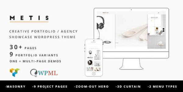 Metis – Portfolio / Agency WordPress Theme - Gpl Pulse