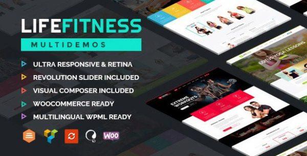 Life Fitness – Gym&Sport WordPress Theme - Gpl Pulse