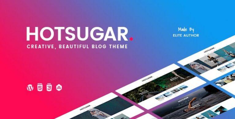 HotSugar – Responsive WordPress Blog Theme - Gpl Pulse