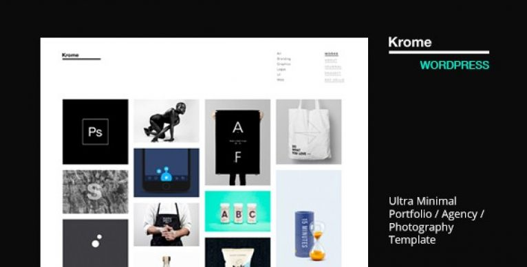 Krome – Minimal Creative Portfolio WordPress Theme - Gpl Pulse