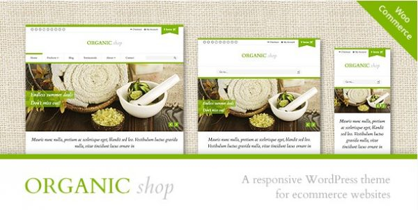 Organic Shop – Responsive WooCommerce Theme - Gpl Pulse