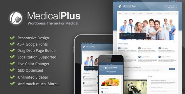 Medical Plus – Responsive Medical and Health Theme - Gpl Pulse