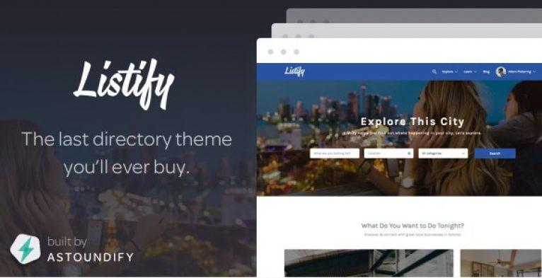 Listify – WordPress Directory Theme - Gpl Pulse