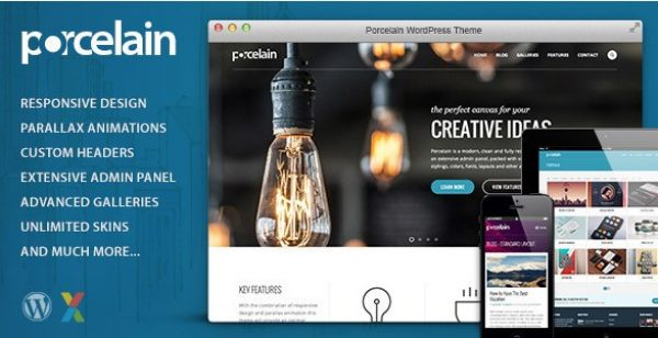Porcelain – Responsive Multi-Purpose Theme - Gpl Pulse