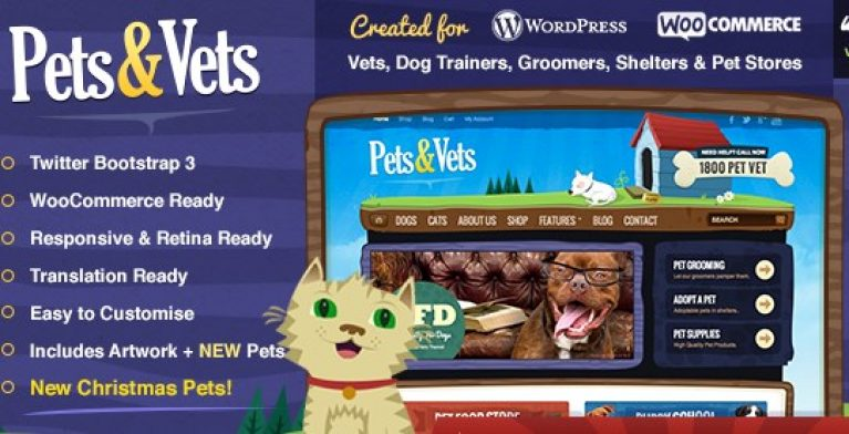 Pets & Vets – WordPress & WooCommerce - Gpl Pulse