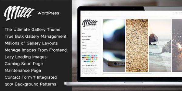 Milli – The Ultimate Photo Gallery WordPress Theme - Gpl Pulse