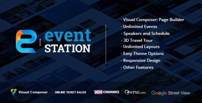 Event Station – Event & Conference WordPress Theme - Gpl Pulse