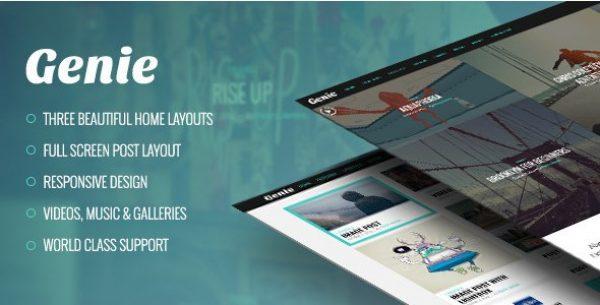 Genie – Personal Blog Theme - Gpl Pulse