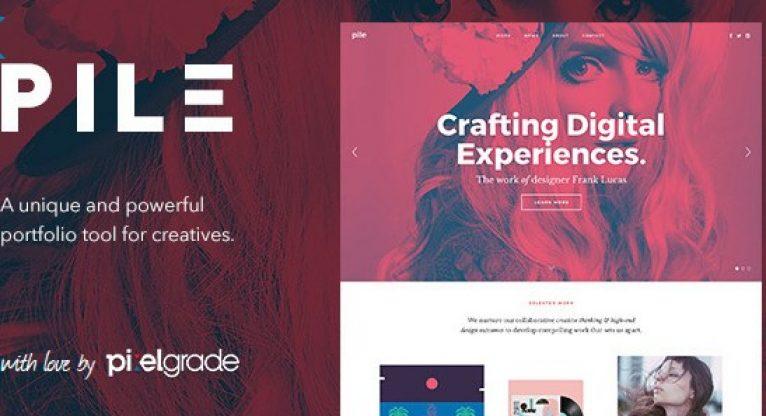 PILE – An Uncoventional WordPress Portfolio Theme - Gpl Pulse