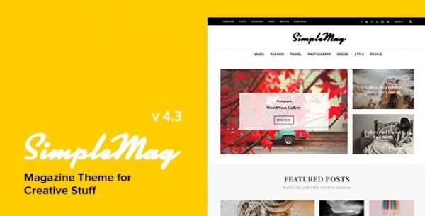 SimpleMag – Magazine Theme For Creative Stuff - Gpl Pulse