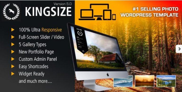 KingSize Fullscreen Photography Theme - GPl Pulse