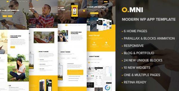 Omni – Stylish Powerful One Page WP Theme - Gpl Pulse