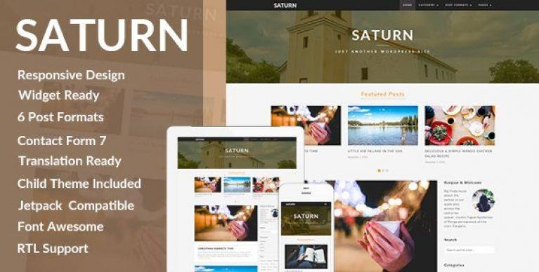 SATURN – A Personal/Travel WordPress Blog Theme - Gpl Pulse