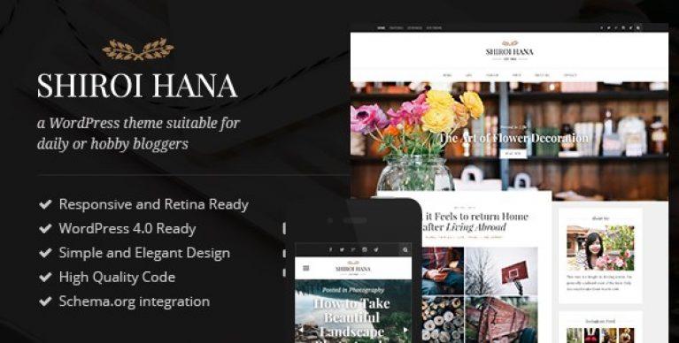 Shiroi Hana – An Elegant Blogging Theme - Gpl Pulse