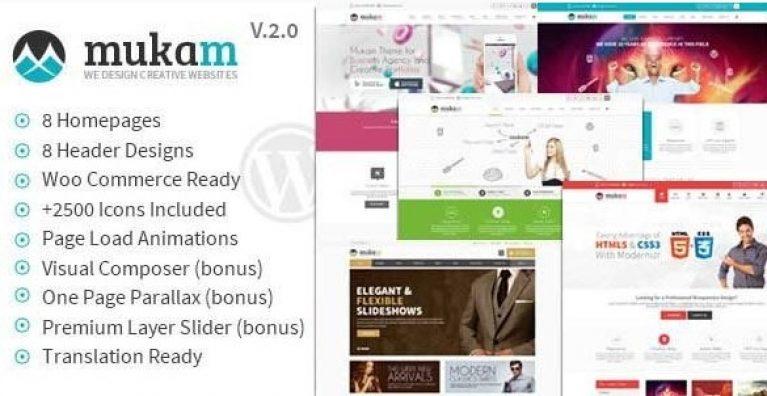 Mukam – Limitless Multipurpose WordPress Theme - Gpl Pulse