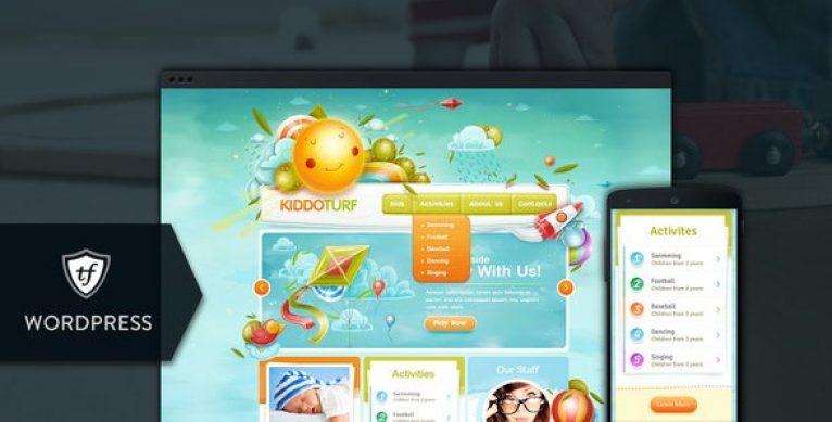 KiddoTurf – Kids WordPress Theme - Gpl Pulse