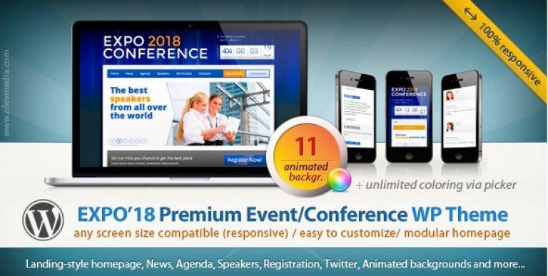 Expo18 – Responsive Event Conference WordPress Theme - Gpl Pulse