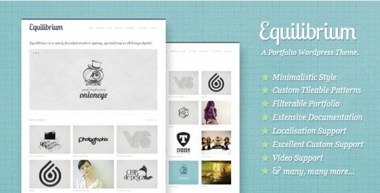 Equilibrium – Clean and Modern WP Portfolio Theme - Gpl Pulse