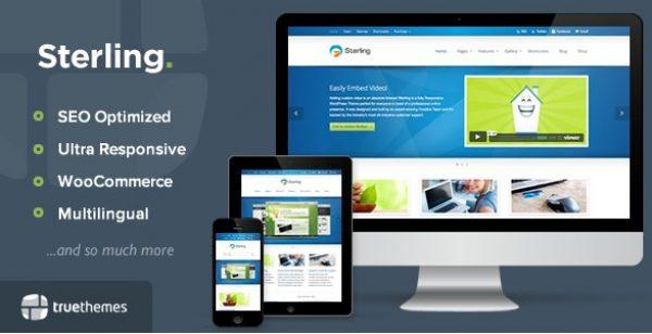 Sterling – Responsive WordPress Theme - Gpl Pulse