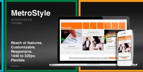 MetroStyle – Responsive All Purpose WordPress Theme - Gpl Pulse