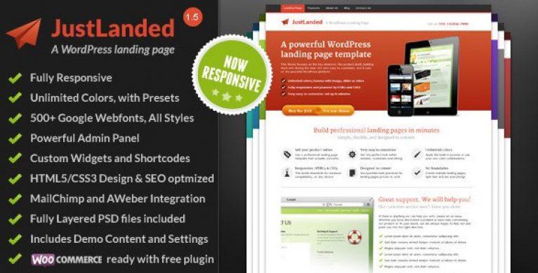 JustLanded – WordPress Landing Page - Gpl Pulse