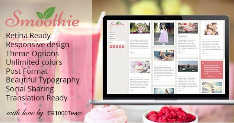 Smoothie – Retina Responsive WordPress Blog Theme - Gpl Pulse